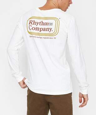 rhythm Mack Long Sleeve T-shirt White