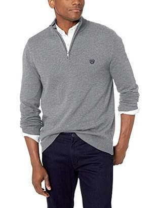 Chaps Men's Classic Fit Coolmax Quarter Zip Sweater