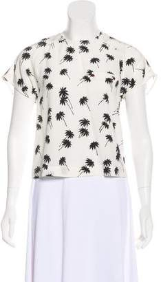 Band Of Outsiders Printed Silk Top w/ Tags