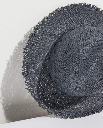 Jigsaw Frayed Edge Stitch Fedora Hat