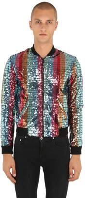 Sequined Viscose Bomber Jacket