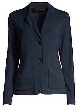 Max Mara Women's Manetta 2-Button Jersey Blazer