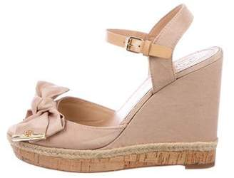 Tory Burch Satin Bow Wedges