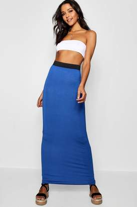 boohoo Tall Helena Jersey Basic Maxi Skirt