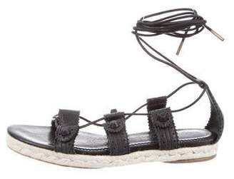 Balenciaga Lace-Up Espadrille Sandals