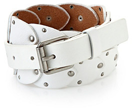 Calvin Klein Jeans White Embellished Panel Belt
