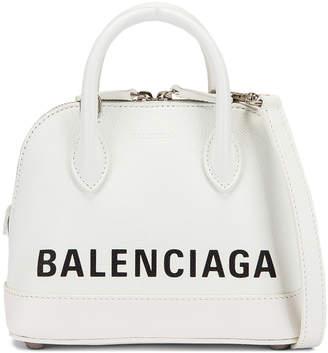 Balenciaga XXS Ville Top Handle Bag in White & Black | FWRD