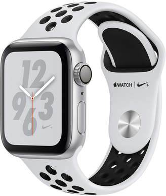 Apple Watch Nike+ Series 4 Gps, 40mm Silver Aluminum Case with Pure Platinum Black Nike Sport Band