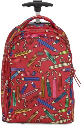 Dolce & Gabbana Printed Nylon Canvas Rolling Backpack