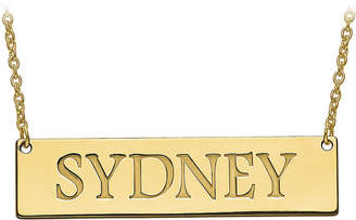 FINE JEWELRY Personalized 12x51mm Name Bar Necklace