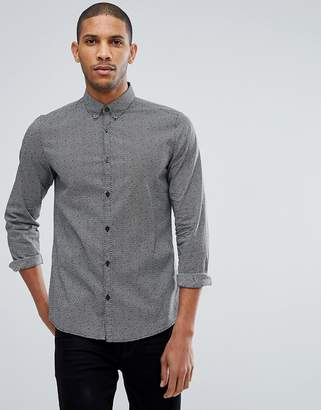 Tom Tailor Fitted Shirt With Monochrome Print
