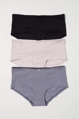 H&M 3-pack Cotton Shortie Briefs - Gray