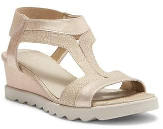 The Flexx Give A Hoot Wedge Leather Sandal