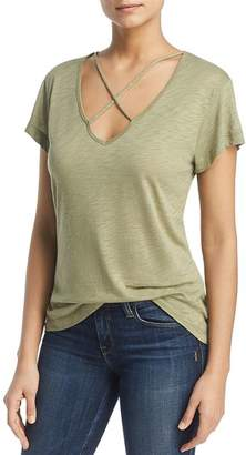 Elan International Crisscross Neck Top