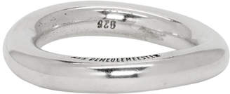 Ann Demeulemeester SSENSE Exclusive Silver Simple Ring