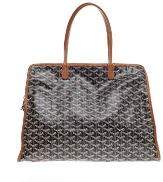 Goyard Hardy Pet Carrier Travel Bag Monogram Chevron PM Black/Brown