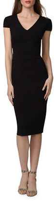 Donna Morgan Crepe Midi Sheath Dress $98 thestylecure.com
