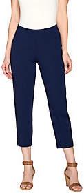 Susan Graver Dolce Knit Comfort Waist ForwardSeam Crop Pants
