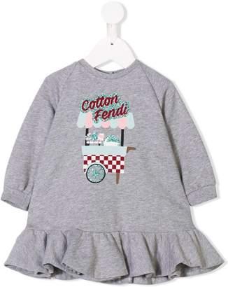 Fendi ruffled sweatshirt dress