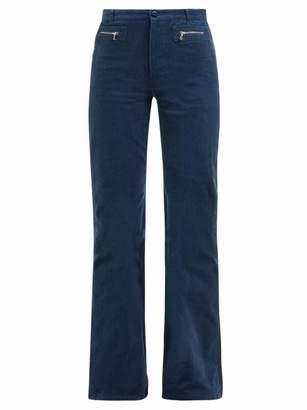 A.P.C. Newport Corduroy Straight Leg Jeans - Womens - Blue