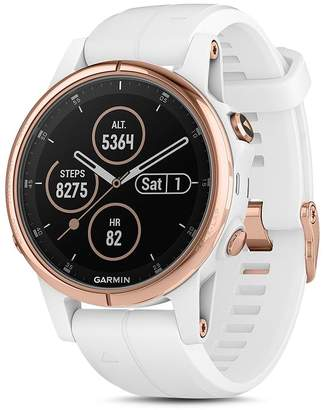Garmin fenix5S Plus Sapphire Premium Multisport GPS White Smartwatch, 42mm