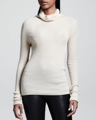 The Row Ribbed Turtleneck Sweater