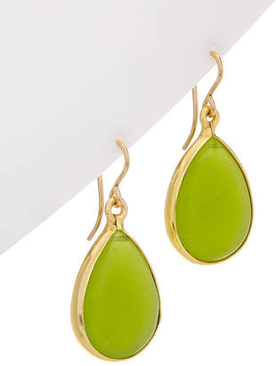 Devon Leigh 18K Over Silver & 14K Green Jade Filled Earrings