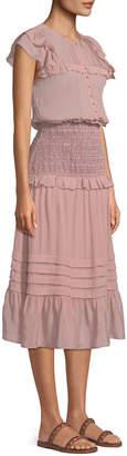 Sea Cecile Sleeveless Smocked-Waist Maxi Dress