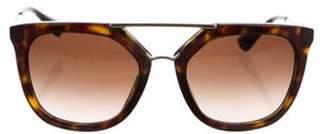 Prada Gradient Aviator Sunglasses Brown Gradient Aviator Sunglasses