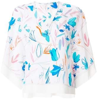 Agnona floral-print top