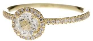 Meira T 14K Yellow Gold White Topaz & Diamond Ring - Size 7 - 0.18 ctw