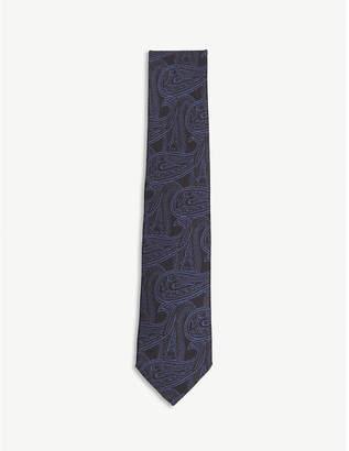 HOLIDAY & BROWN Paisley print silk tie