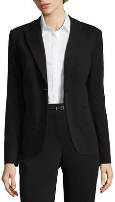 Liz Claiborne One-Button Peak Lapel Blazer - Tall