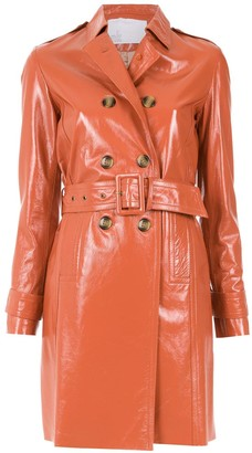 Nk leather trench coat