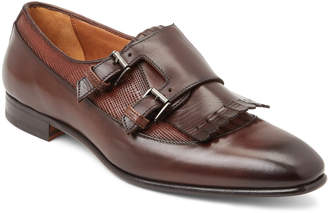 Antonio Maurizi Dark Brown Kiltie Monk Strap Shoes