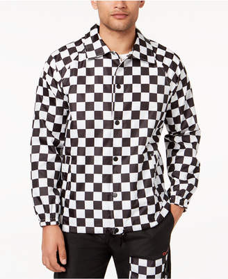 Finish Line Dope Men's Checkered Coaches Jacket