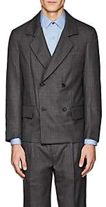 Gosha Rubchinskiy MEN'S PINSTRIPED WOOL DOUBLE-BREASTED SPORTCOAT-LIGHT GRAY SIZE S
