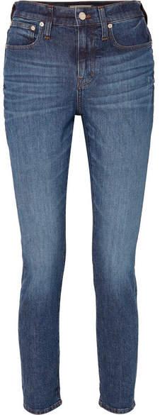Slim Boyjean High-rise Boyfriend Jeans - Mid denim