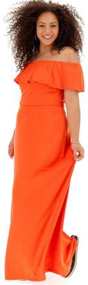 Bardot Womens Simply Be Maxi Dress - Orange