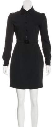 Prada Belted Sheath Dress