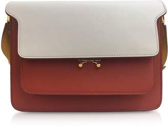 Marni Ice, Rust and Honey Leather Trunk Bag