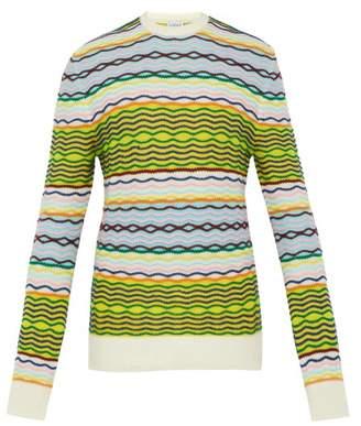 6bb8f9a559 Loewe Striped Knit Cotton Sweater - Mens - Multi