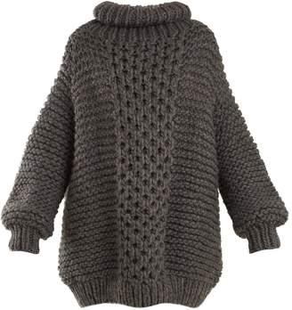I LOVE MR MITTENS Aran roll-neck wool sweater