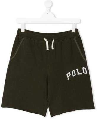 Ralph Lauren Kids slogan track shorts