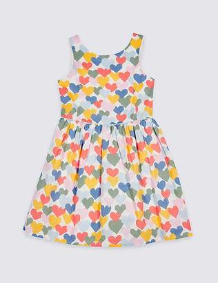 Marks and Spencer Heart Print Prom Dress (3-16 Years)