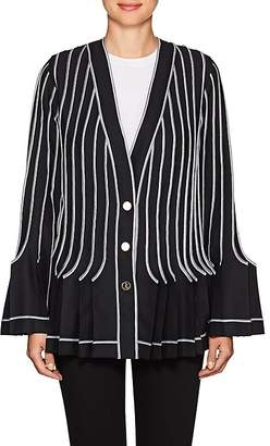 Thom Browne WOMEN'S PLEATED WOOL-MOHAIR JACKET
