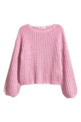 H&M Chunky-knit Sweater - Pink - Kids