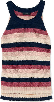 J.Crew Striped Cotton-blend Tank - Pink