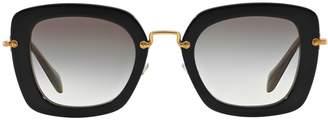 Miu Miu Noir Square Sunglasses