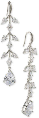 Carolee Silver-Tone Crystal Linear Drop Earrings
